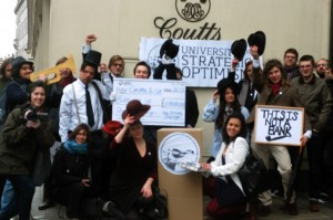 Flash mob at Coutts, photo: indymedia London