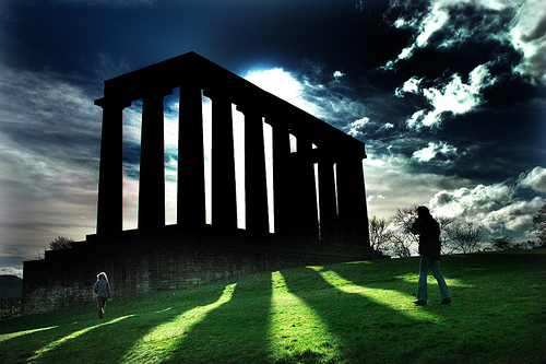 The National Monument, Calton Hill; photo by Jim Downie