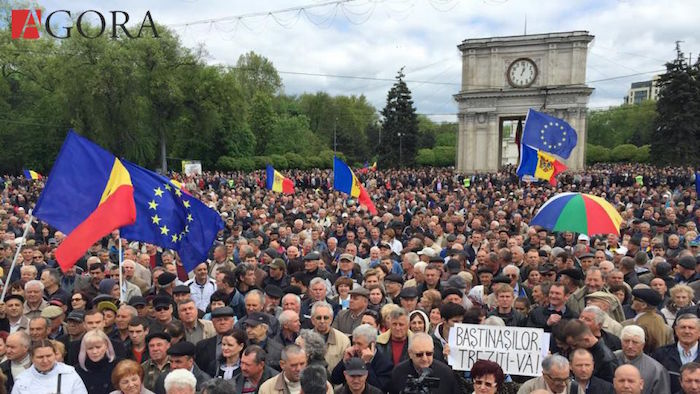 20,000 protestors take to Chisinau's street. Photo Agora.md