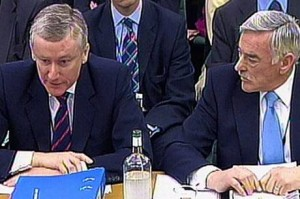 Fred Goodwin and Tom McKillop. photo: Standard