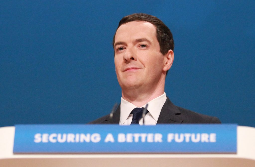 George Osborne during the Conservative Party Conference 2014, at The ICC Birmingham.